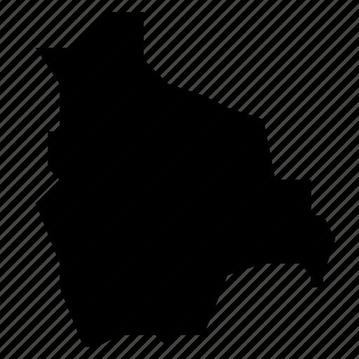 bolivia, map icon