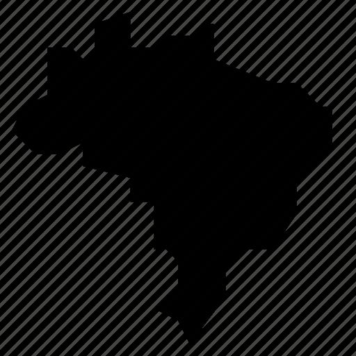brazil, map icon