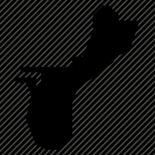 guam, map icon