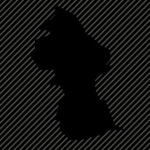 guyana, map icon