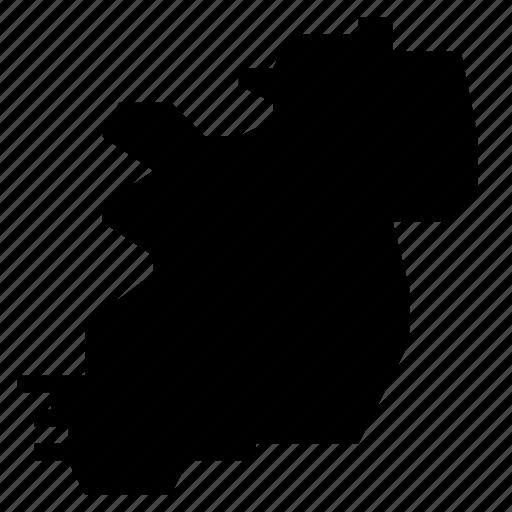 ireland, map icon