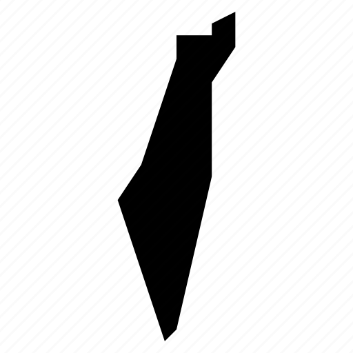 israel, map, palestine icon