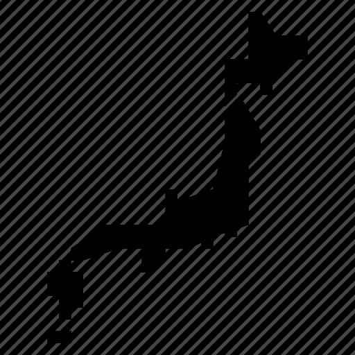 japan, map icon