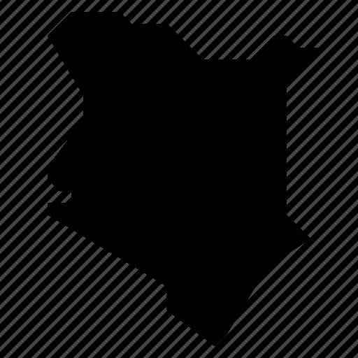 kenya, map icon