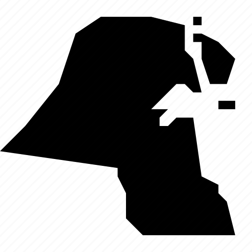 kuwait, map icon