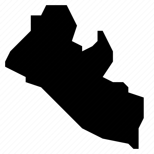 liberia, map icon