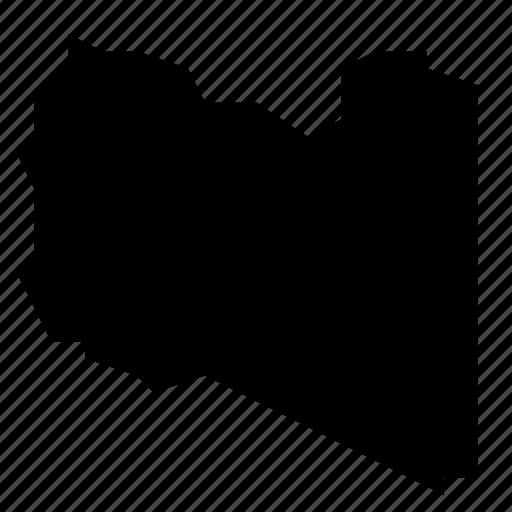 libya, map icon