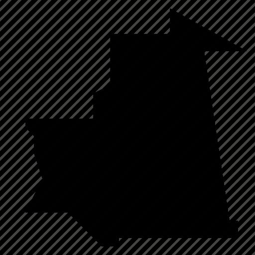 map, mauritania icon