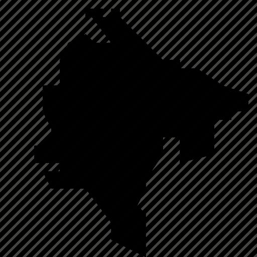 map, montenegro icon