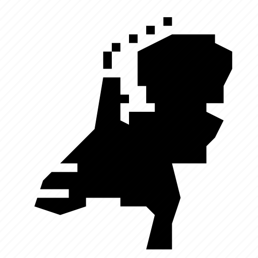 map, netherlands icon