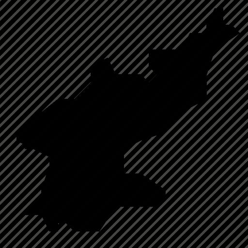 korea, map, north icon