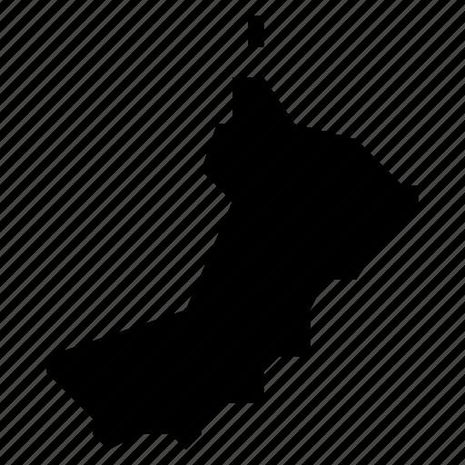 map, oman icon