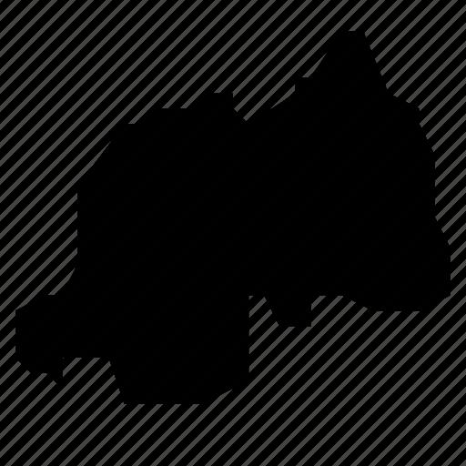map, rwanda icon