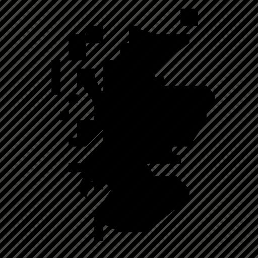 map, scotland icon