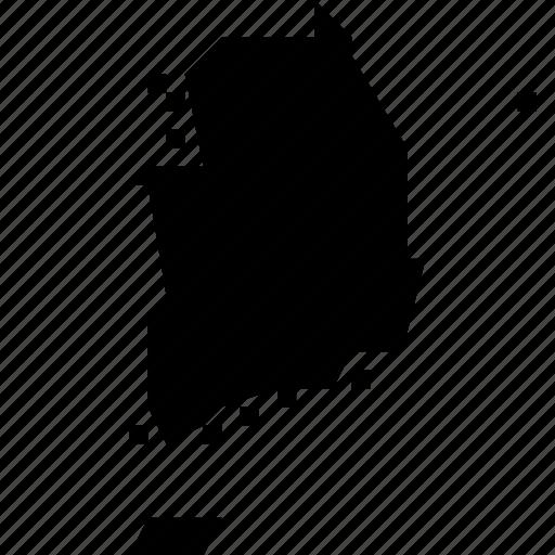 korea, map, south icon