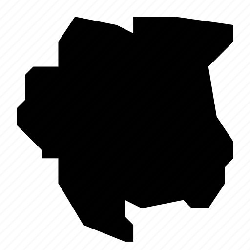 map, suriname icon