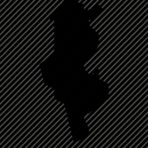 map, tunisia icon