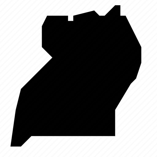 map, uganda icon