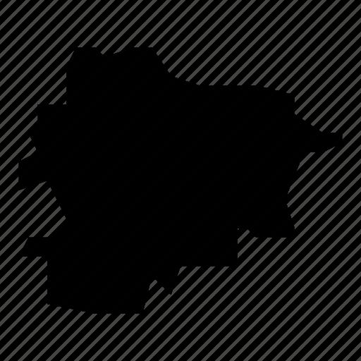 andorra, map icon