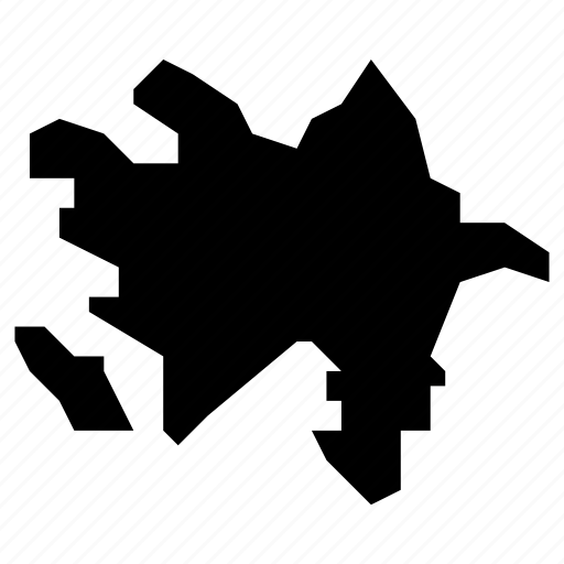 azerbaijan, map icon