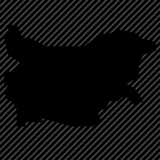 bulgaria, map icon