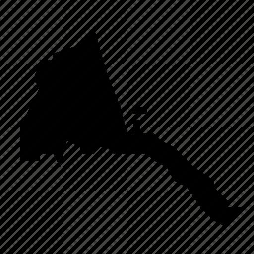 eritrea, map icon