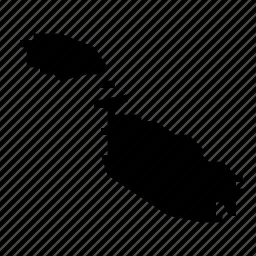 malta, map icon
