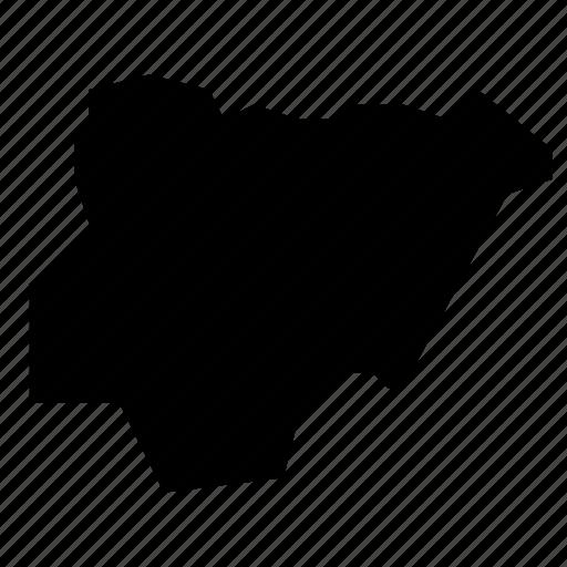 map, nigeria icon
