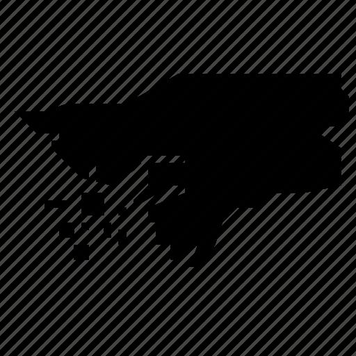 bissau, guinea, map icon