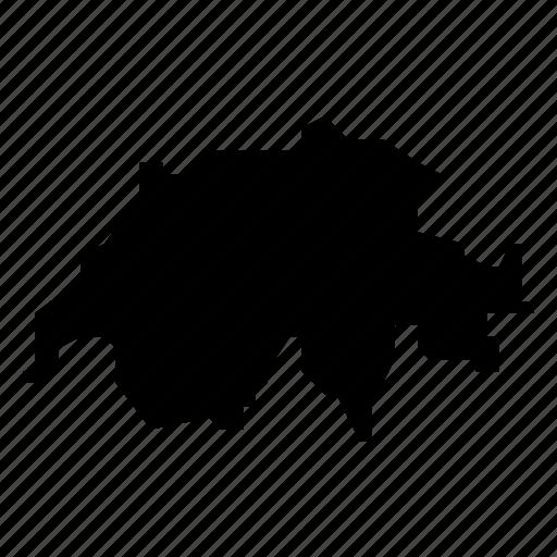 map, switzerland icon