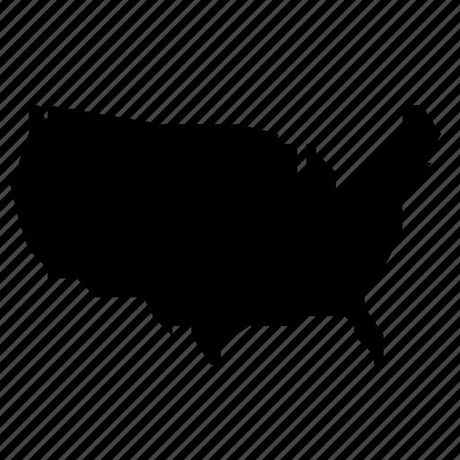 map, states, united, usa icon