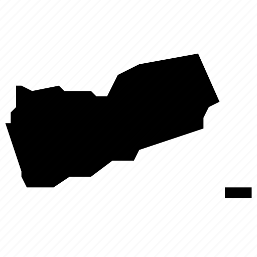 map, yemen icon
