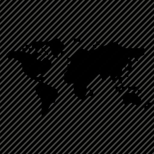 map, world icon