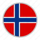 country, europe, flag, nation, national, norway icon
