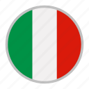 country, europe, flag, italy, national icon