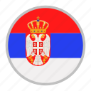 country, europe, flag, national, serbia icon