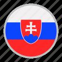 country, europe, flag, national, slovakia icon