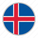 country, europe, flag, iceland, nation, national icon