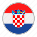 country, croatia, europe, flag, national icon