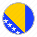 bosnia, country, europe, flag, herzegovina, national icon