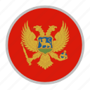 country, europe, flag, montenegro, national icon
