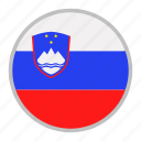 country, europe, flag, national, slovenia icon