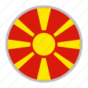 country, europe, flag, macedonia, national, north icon