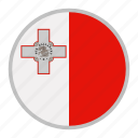 country, europe, flag, malta, national icon