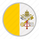 country, europe, flag, national, vatican icon