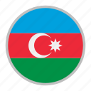 azerbaijan, country, europe, flag, national icon