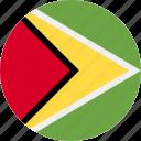 ball, country, flag, grenade, guyana icon