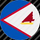 american, circle, country, flag, samoa icon