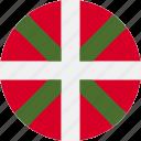 ball, basque, country, flag, grenade icon