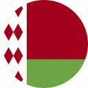 ball, belarus, country, flag, grenade icon